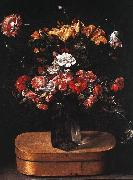 Bouquet on Wooden Box